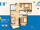 宏泰龙河枫景_2室2厅1卫 建面85平米