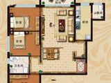 恒大翡翠华庭_3室2厅1卫 建面122平米