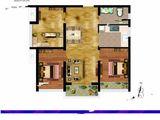 尚都后鸟巢_3室1厅1卫 建面91平米