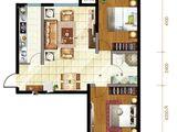 文予凤凰城_2室2厅1卫 建面98平米