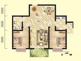 北洋景苑_2室2厅1卫 建面95平米