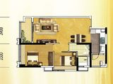 恒大金阳新世界_2室2厅1卫 建面75平米