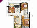 碧桂园太阳城_3室2厅2卫 建面129平米