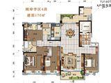 碧桂园太阳城_4室2厅2卫 建面170平米