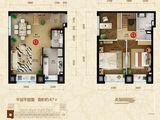 星河185_3室2厅2卫 建面67平米