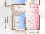 太原恒大金碧天下_2室1厅1卫 建面81平米